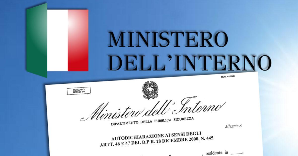 Ministero Interno – Circolare esplicativa del DCPM 18-ottobre 2020