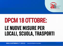 DCPM 18 ottobre 2020